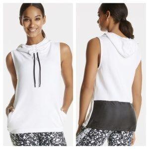 Fabletics Eirenne White Pullover NWOT 659